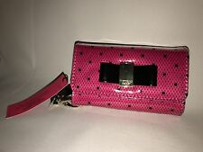 Victoria's Secret VS Wallet Clutch For IPONE 5 With Pockets and Strap Bow Dots