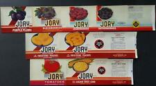 8 Different Vintage Unused Jory Brand Can Labels United Growers, Salem, Oregon