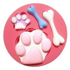 Paws Animal Bone Silicone Mold Cat Dog Fondant Gum Paste Resin Polymer Chocolate