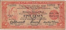 (YAC-61) 1944 Philippines 5 peso emergency bank note (D)