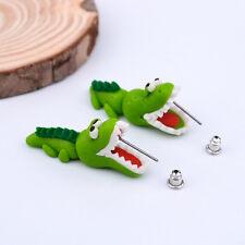 Fine Animal Dinosaur Handmade Fashion Clay Earrings Earring Stud Crocodile