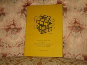 "Notes On The ""Magic Cube"" (Rubiks) David Singmaster - Rare Fourth Printing 1988"