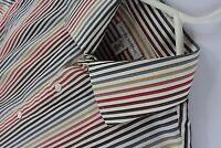 Banana Republic Mens Dress Shirt Multi Color Striped Size 15 Medium Long Sleeve