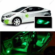 For Hyundai Elantra 2011-2012 Green LED Interior Kit + Green License Light LED