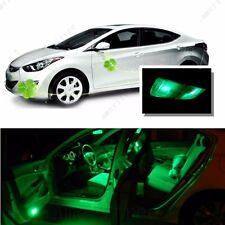 For Hyundai Elantra 2011-2012 Green LED Interior Kit + Green License Light LED