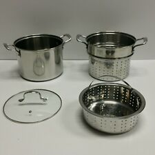 NICE & EXCELLENT CONDITION - 8 Quart DENMARK Tools for Cooks Pot - 4 Piece set