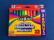 Cra-Z-Art Super Washable Markers, non-toxic, assorted bright colors, 12 ct, New