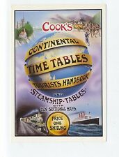 ad300 - advert Cook's holiday timetables - art postcard