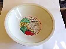 MOUNT CLEMONS POTTERY CHEF SALAD BOWL W/RECIPE SERVES 6 MADE IN CHINA