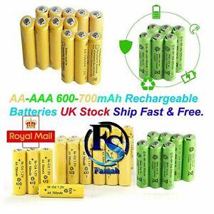 AA & AAA Rechargeable Solar Light Batteries Ni-MH 1.2v 600 700 mAh Garden Lights