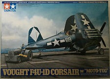 "TAMIYA 61085 1/48 SCALA Vought f4u-1d Corsair con ""Moto-Tug"" MODEL KIT PENNINO"