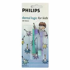 2 x Philips HP5925/2 Dental Logic Toothbrush Heads For Kids - NEW