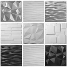 Paquet de 13 Panneaux muraux 3D en PVC Noir/Blanc/Argenté 35㎡ Décoration Murale