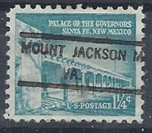 VIRGINIA PRECANCELS, 1 1/4c LIBERTY, MOUNT JACKSON, TYPE 825