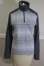 Lululemon Athletica Women's Light Grey Striped 1/2 Zip Sweater Size S (lu100