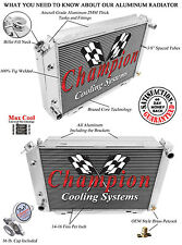 Champion Racing 3 Row Aluminum Radiator For 1979 - 93 Ford/Mercury Cars