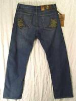 Straight Leg EMBELLISHED Pockets Low Rise JEANSTATION 100% Cotton Jeans 38 34