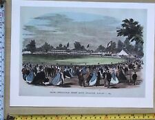Antique Vintage Cricket Match Print: Melbourne, Australia Jan 1 1864: Reprint