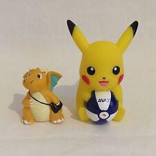Very Rare JAPAN ANA pikachu Dragonite mini figure doll pokemon nintendo F/S