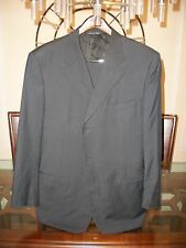 used CANALI black striped suit EU 58L US 48L pants 36 x 31 Italy $2795
