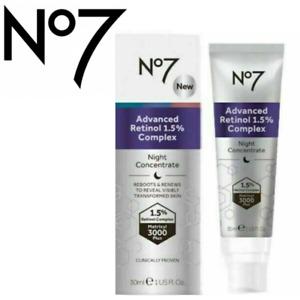 NO7 ADVANCED RETINOL 1.5% COMPLEX NIGHT CONCENTRATE 30ML BRAND NEW