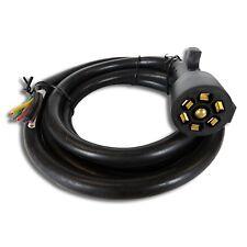 Universal Molded Trailer Light Plug Wiring Harness 7 Way RV 8' Cord for RV 5th