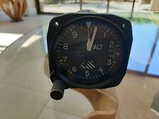 Aircraft Altimeter, clear glass and dial. Not for use.