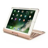 "Für iPad Air / iPad Pro 9.7""  Hülle Case QWERTY Bluetooth US Tastatur LED Gold"