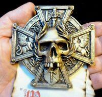 Warhammer Fantasy Sigmar Crux Skull Scroll (Gold)