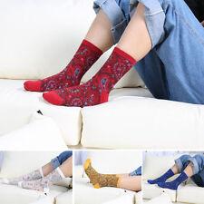 5 Pairs National Retro #V Womens Cotton Warm Socks Winter Fashion Striped Design