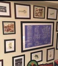 Harley Davidson Art Knucklehead Motorcycle Blueprint Mancave Vintage Poster Sign