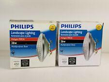 Pair Philips 36W 12V Clear Multi-Purpose PAR36 Halogen Landscape Light Bulb