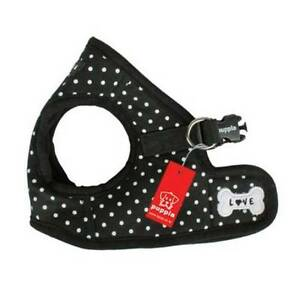 Puppia - Dog Puppy Harness Soft Vest - Dotty - Black - S, M, L