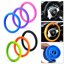 "14""-16"" Black Soft Silicone Car Auto Steering Wheel Cover Skidproof Odorless Eco"