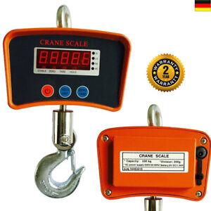 Kranwaage Hängewaage Zugwaage Digital inkl. Sicherheitshaken Batterien 500 kg