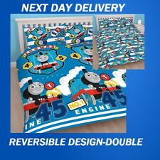THOMAS THE TANK ENGINE AND FRIENDS DOUBLE DOONA DUVET QUILT COVER SET KIDS BOYS
