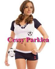 Ladies Football Soccer Player Cheerleader School Girl Costume Dress 6-10