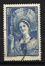 France 1938 champenoise Yvert n° 388 oblitéré 1er choix (1)