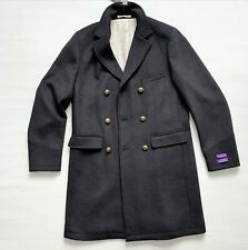 NEW WILLIAM HUNT Saville Row Big Boy Military Wool Pea Coat Size 40  RRP £600.