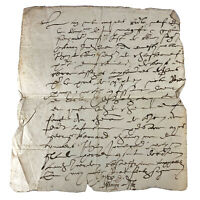 1600's European Paper Handwritten Manuscript Codex - Legal Document Old Rare Doc