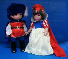 "Snow White & Prince Seven Dwarfs 16"" Doll Set Disney Precious Moments Signed"