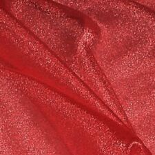 """RED SPARKLE ORGANZA FABRIC 60"""" 3 YDS"""