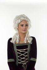 England Queen Elizabeth Renaissance Victorian Lady Sliver Wig Noble Europe