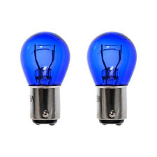 2x BAY15D 1157 380 P21/5W Super White Daytime Running Light DRL Blue Glass Bulbs