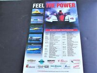 Inboard Powerboat Racing-Feel the Power- 1997 Tentative Schedule Photo Poster.