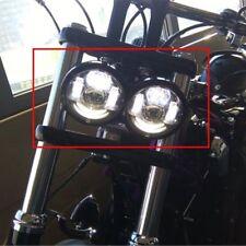 2x Motorcycle Hi-Lo LED Headlight DRL Bulb For Harley Dyna Fat Bob FXDF 08-16 E9