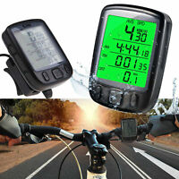 LCD Digital computadora del ciclo bicicleta bici velocimetro cuenta kilometros