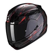 Casque intégral moto Scorpion EXO-390 BEAT Noir-Rouge fluo NEW 2021