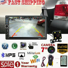 """7"""" DOUBLE 2DIN Car MP5 Player Bluetooth Touch Screen Stereo Radio + Rear Camera"""