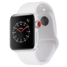 Apple Watch Series 3 (38mm) A1860 Silver Aluminum Case/White Sport Band GPS+LTE